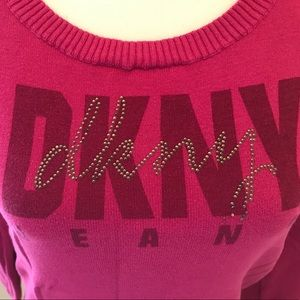 DKNY JEANS logo Pink sweater