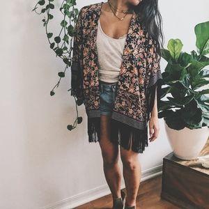 ZARA | fringe kimono