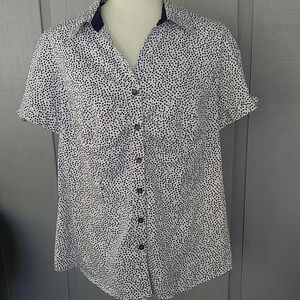 Lane Bryant plus button blouse top 18