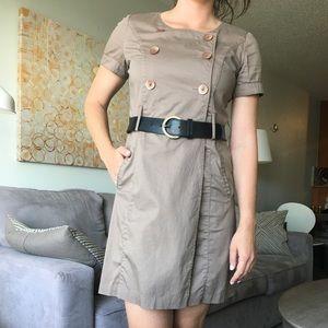 BCBG Wrap Shirt Dress with Belt