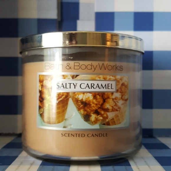 Bbw Salty Caramel 3 Wick Candle