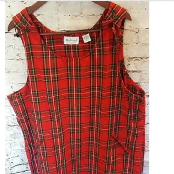 WESTBOUND II Dillards red plaid dress Plus Size