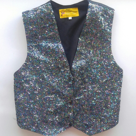 first rate buy sale purchase original Men's sequin and Bead mermaid tuxedo vest