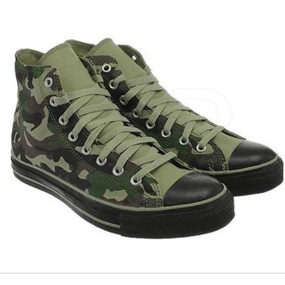 8db5ea9e824e5 Converse Shoes - Camo & Black Converse Chuck Taylor Hi-Tops