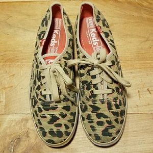 Keds Leopard Print Champion Classic Sneakers 6.5