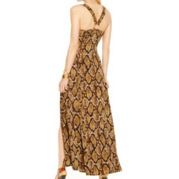 fac63695f6b1 Michael Kors Dresses | Tokara Snakeskin Print Maxi Dress | Poshmark