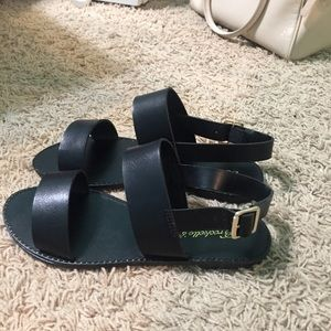 Shoes - NWT Black Boho Strappy Sandals 7