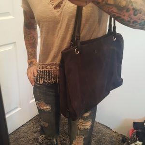 Handbags - Large suede purse