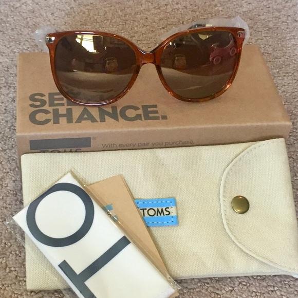 bbc4b3d8bf1 Toms Accessories | Sandela 201 Auburn Crystal Sunglasses | Poshmark
