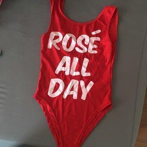 Other - Rose all day one piece high cut bikini