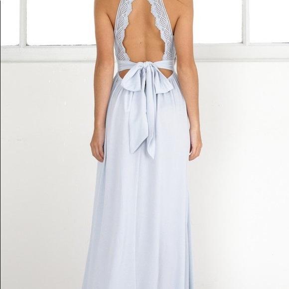 showpo Dresses | Twilight Star Maxi Dress Pale Blue | Poshmark