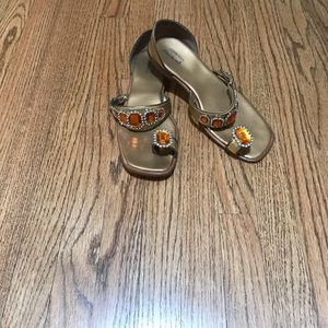 Cindy Says Couture leather sandals with gems, 8