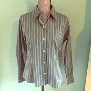Eddie Bauer Button Down Shirt Striped for Work