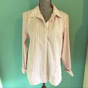 Talbots Wrinkle Resistant Button Down Shirt Work