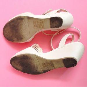Modcloth Shoes - B.A.I.T. Footwear Cream Wedge Sandal