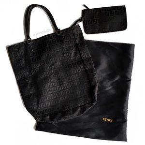 Fendi Tote Bag With Matching Pouch