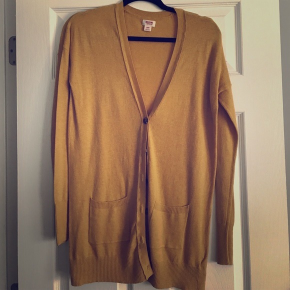 Mossimo Supply Co - Mustard yellow boyfriend cardigan from Pink's ...