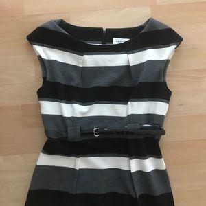 Calvin Klein Striped Formal Work Dress