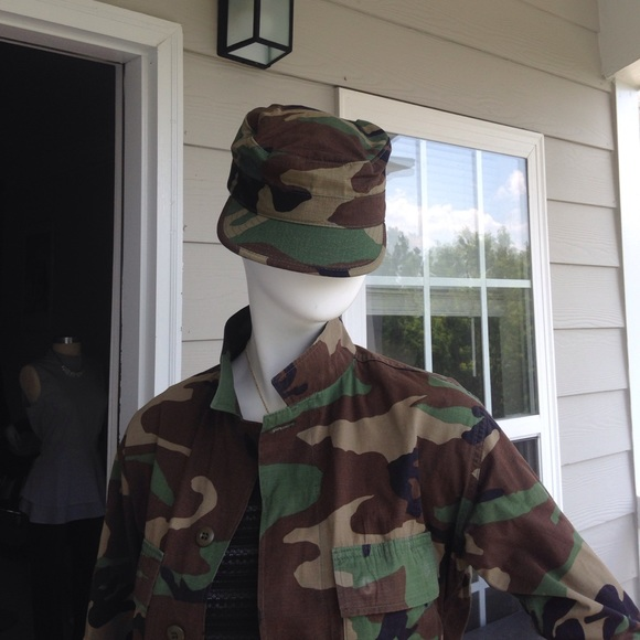 Army fatigue hat from Army Surplus