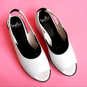 Shellys London White Mod Heel