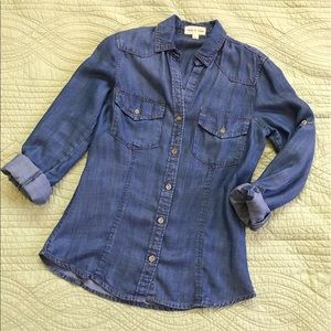 Cloth and Stone chambray denim shirt