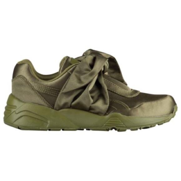 Puma x Fenty Olive Bow Sneakers Rihanna. M 5978daa4eaf03081ab02c6e3 da05b32c8
