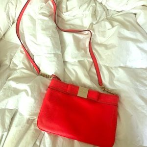Gorgeous vibrant red Kate Spade cross body