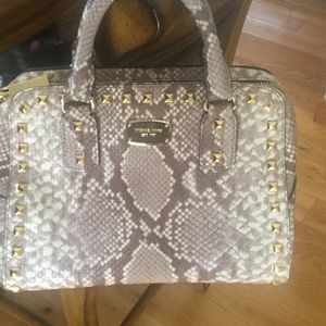 Michael Kors python embossed purse