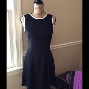 Ann Taylor sleeveless black backless sundress
