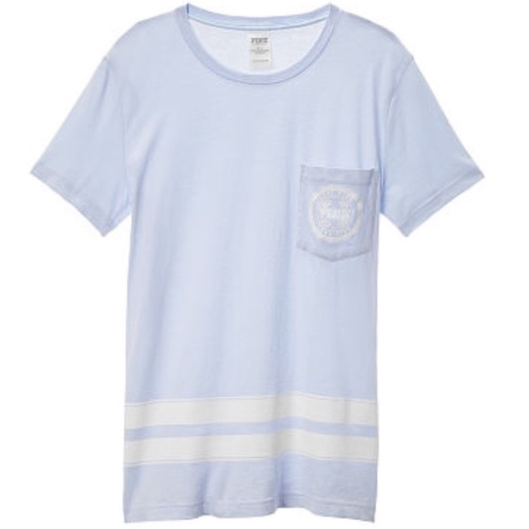 151a4a5f230 NWT Pink campus pocket tee morning sky blue XS