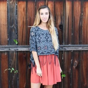 Tops - lace fringe top