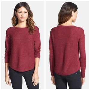 Eileen Fisher Royal Alpaca Sweater Maroon Red PS