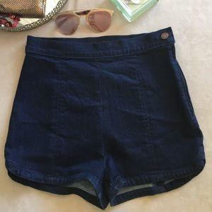 New BDG denim high waist shorts by UO