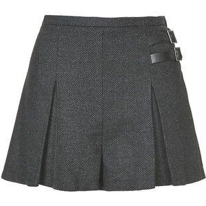 Topshop shorts skirt skort schoolgirl top shop