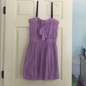 Lilac summer dress w/ POCKETS ON BOTH SIDES