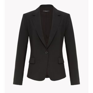 Theory Black Gabe Blazer Stretch Wool Size 4 VGUC