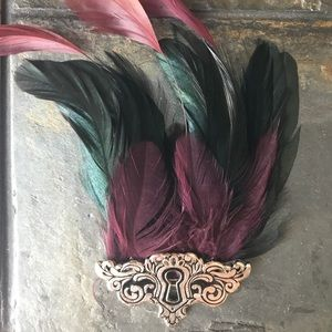 Accessories - Hand Made Feather Hair clip 💙💜💚