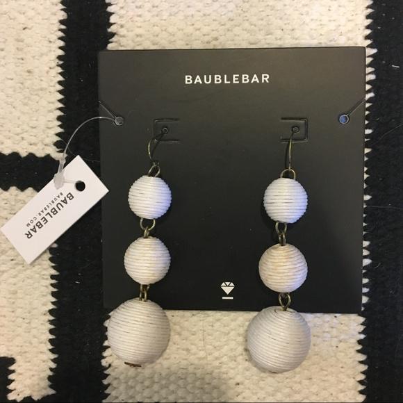 BaubleBar Jewelry - BaubleBar Crispin white earrings