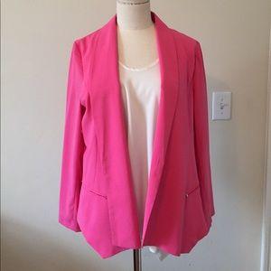 Bright pink lightweight blazer
