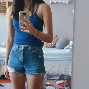 vintage denim cutoff shorts