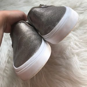 fb1780fe4b Vans Shoes - Vans Asher Rose Gold Metallic Slip On Sneaker