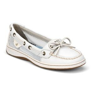 Sperry Top Sider Angelfish White Mesh Boat Shoe