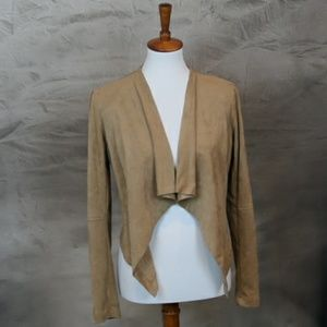 Katherine Barclay sueded suit coat blazer jacket S