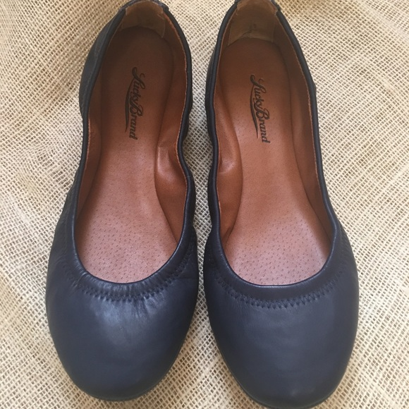 Lucky Brand Emmie Navy Blue Leather