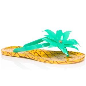 Kate Spade Pineapple Rubber Thong Flip Flops