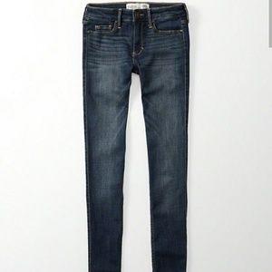 Brand New Abercrombie Super Skinny Jeans Dark Wash