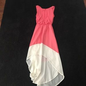 Dresses & Skirts - High-Low Coral Dress in Great Condition