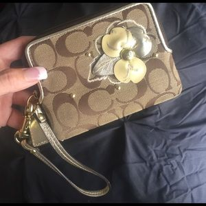 4e262c90bd86c8 Black velour handbag juicy couture with bling Authentic coach wristlet with  flower brown ...