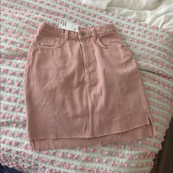 339ac057e8ee H&M Skirts | Hm Blush Pink Jean Skirt | Poshmark