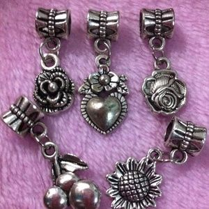 Accessories - Assorted flower, Cherry dangle charm sets
